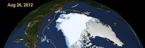 L'Arctique et le Grand Nord vus du ciel en 2012