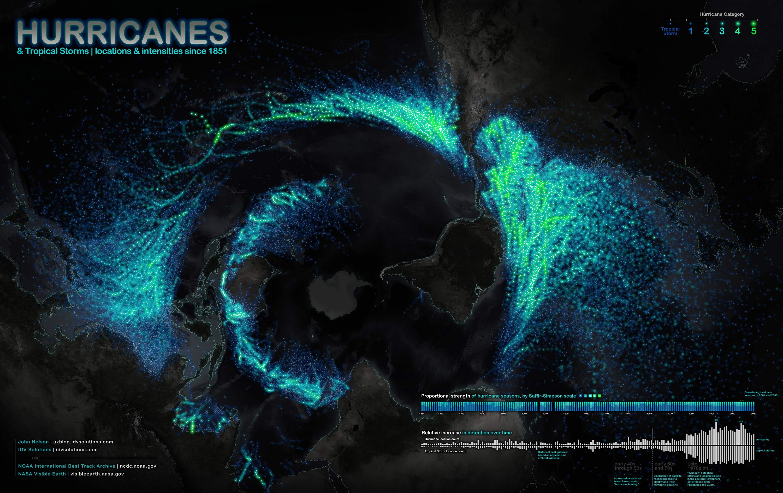 ouragans carte