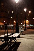 lampadaire neige