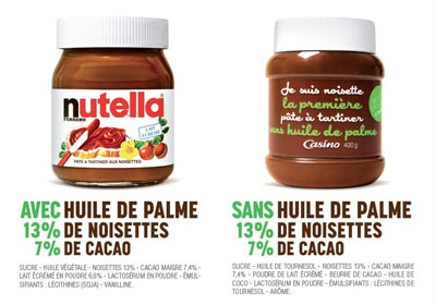 Nutella et l'huile de palme : Casino en remet une couche dans ACTEURS pubJesuisNoisette