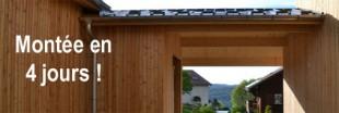 Vidéo : montage d'une maison passive en bois en 4 jours