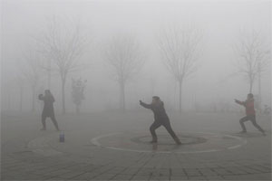 Les activités physiques sont déconseillées crédit photo: China Daily Reuters