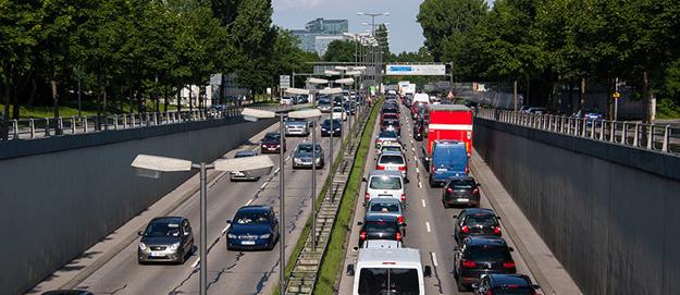 pollution de l'aire , embouteillages