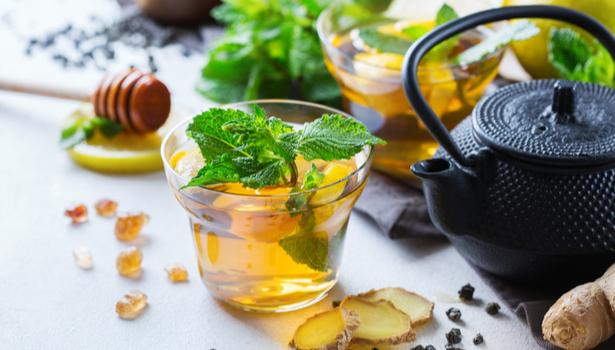 bienfaits du thé vert menthe