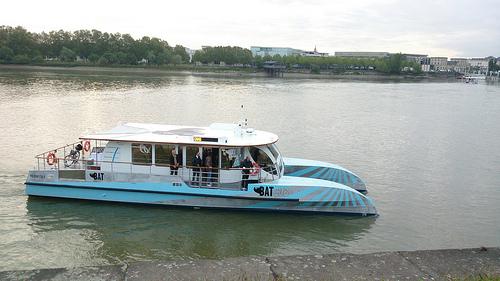 moyen de transport écologique, la navette fluviale de Bordeaux. CC: Communauté Urbaine de Bordeaux