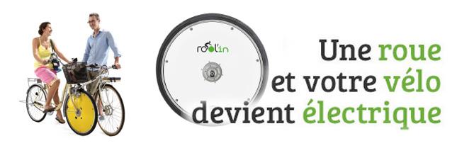 Rool'in, la roue qui rend votre vélo électrique