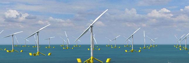Winflo, la première éolienne flottante française