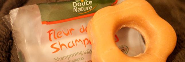Fleur de shampooing solide Douce Nature, le test de la rédac