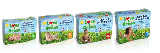 Les couches écologiques Love & Green décollent