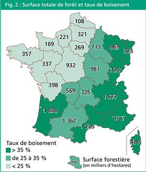 Nombre d'arbres plantés en France