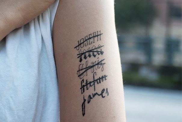 Les tatouages éphémères de type décalcomanies. Crédit photo Tatty.