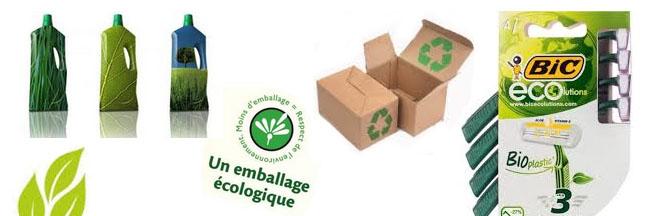 Environnement : des packagings écologiques de plus en plus innovants