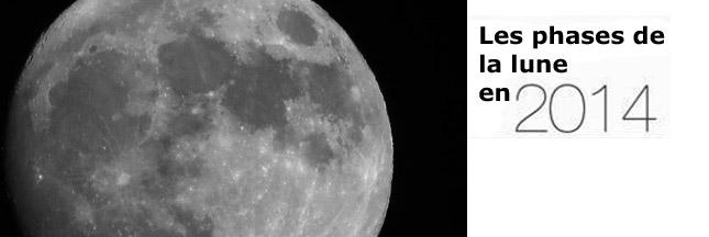 Les phases de la lune en 2014
