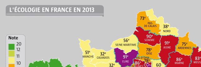 Le palmarès de l'écologie 2013 : votre département est-il au top ?