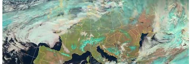 Une année de climat planétaire en 60 secondes