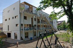Habitat participatif l 39 eco logis neudorf strasbourg for Garage strasbourg neudorf