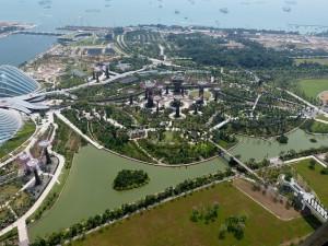 Singapour, vue du ciel