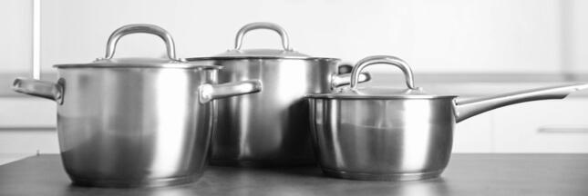 Les casseroles en inox, plus saines et respectueuses de l'environnement