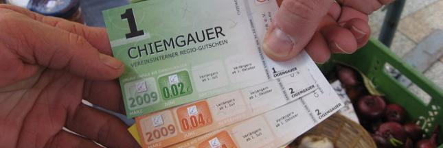 Le chiemgauer, monnaie locale et solidaire