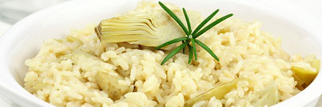 Recette bio : risotto végétarien aux artichauts