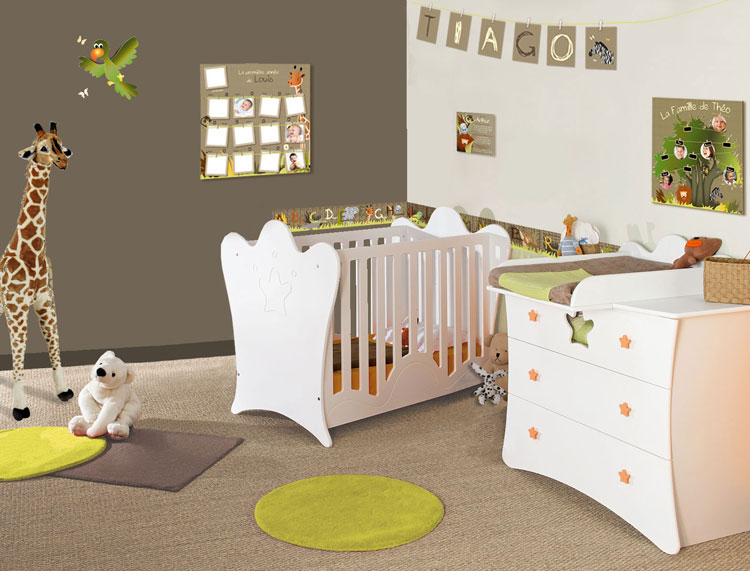 rideau chambre bebe jungle avec des id es. Black Bedroom Furniture Sets. Home Design Ideas