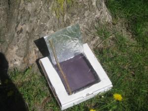 Four solaire boîte à pizza et aluminium