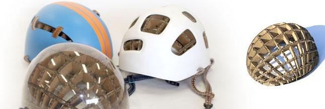 Kranium : un casque à vélo en carton qui protège des chutes !