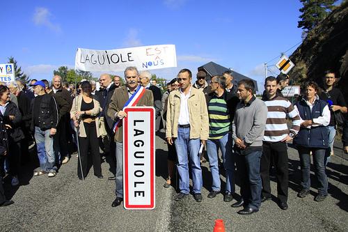 Protestation des Laguiolais. CC: Metronew Toulouse
