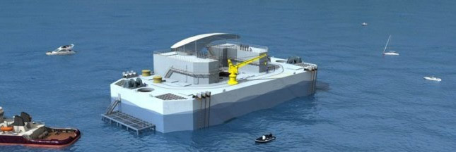 Nemo,centrale flottante chauffe la Martinique avec de l'eau froide