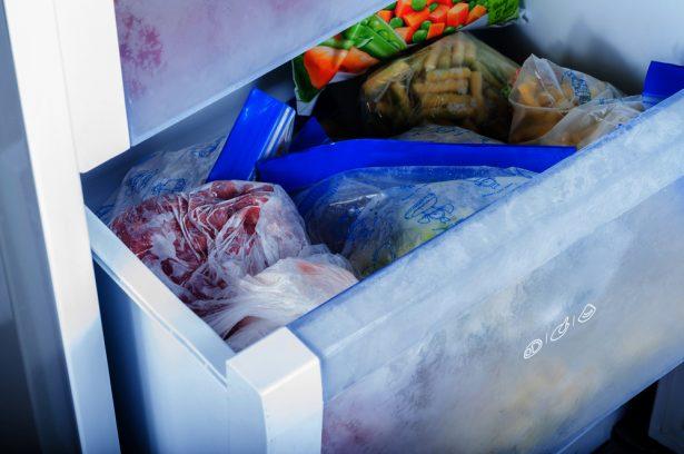légumes congelés, température d'un congélateur