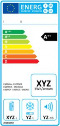 légumes congelés, température d'un congélateur, étiquette énergie
