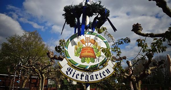 La bière, une affaire sérieuse en Allemagne - Jardin de la bière en Bavière