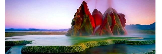 Les geysers magiques du désert Black Rock