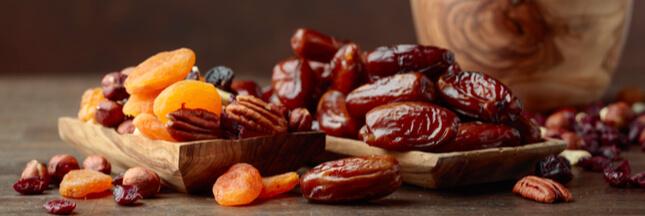 Fruits secs & calories : abricots secs, dattes, figues et..