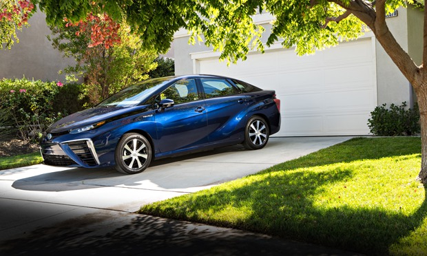 Mirai (means future in Japanese) Toyota Fuel Cell vehicle (using hydrogen )