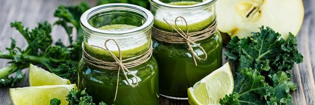 Recette : Jus vert de légumes et fruits au chou Kale