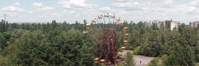 Tchernobyl vue des airs : fascinante vidéo