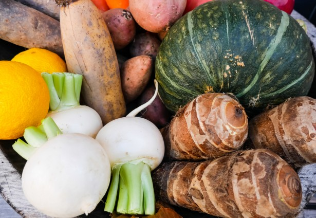 légumes oubliés, assortiment de légumes