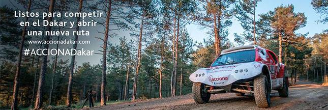 Acciona Dakar 2015 : une voiture électrique dans le désert