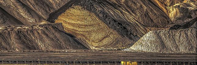Mine à ciel ouvert de charbon en Chine