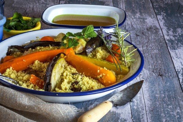 couscous, légumes, cannelle