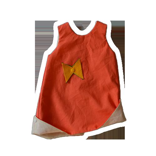 kikikado-robe-reversible-corail-et-ecru-verso
