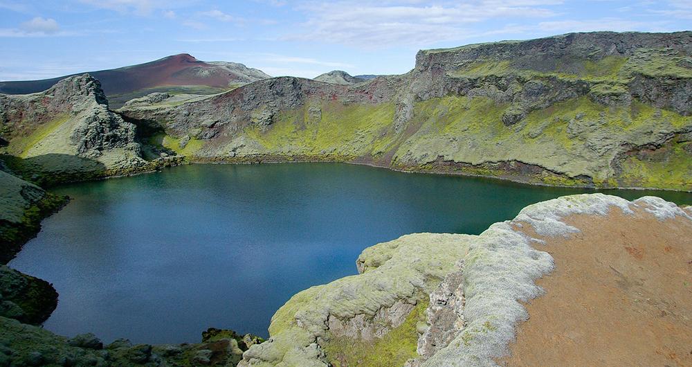 planète terre, iceland-lac-volcanique
