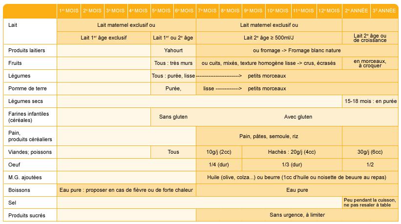 Miel - Les grandes phases de la diversification alimentaire du nourrisson