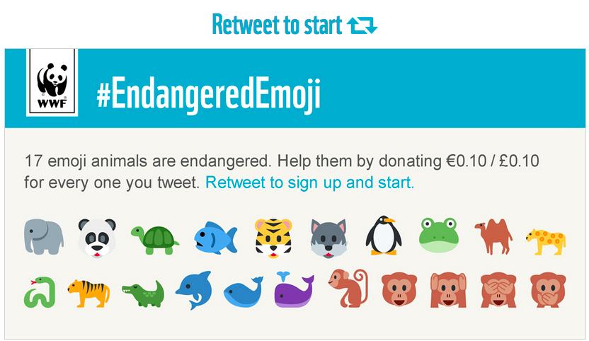 Emojis espèces menacées