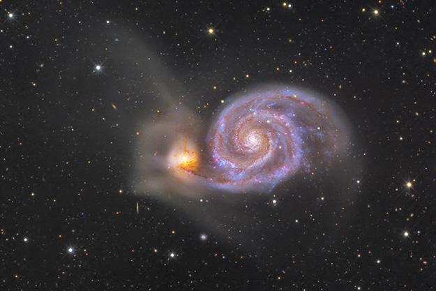 andromède-voie-lactée-collision-galaxie-espace-étoiles-fusion-univers-astronomie
