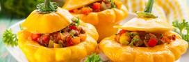 Pâtissons farcis aux légumes, une recette végétarienne
