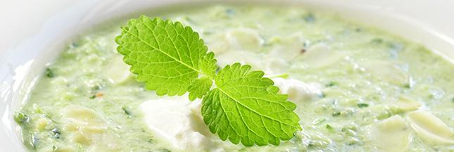 recette maison gaspacho concombre aneth menthe soupe froide
