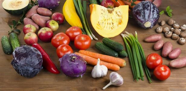 contre le rhume, alimentation saine, fruits et légumes d'hiver