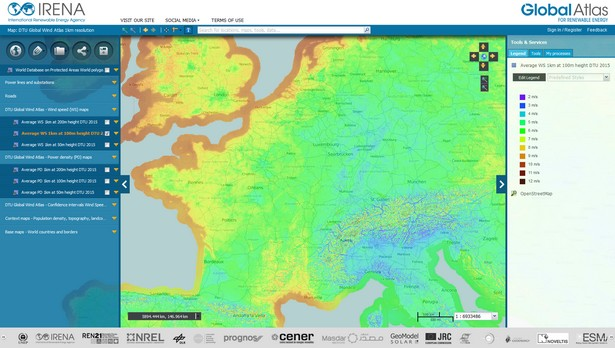 global wind atlas énergie éolienne irena